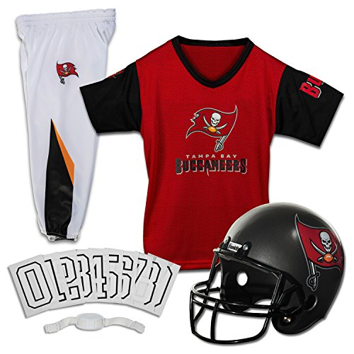 Franklin Sports NFL Tampa Bay Buccaneers Deluxe Youth Uniform Set, Small