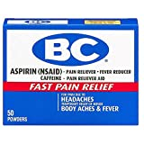 BC Aspirin Fast Pain Relief Powder, 50 Count (Pack of 2)