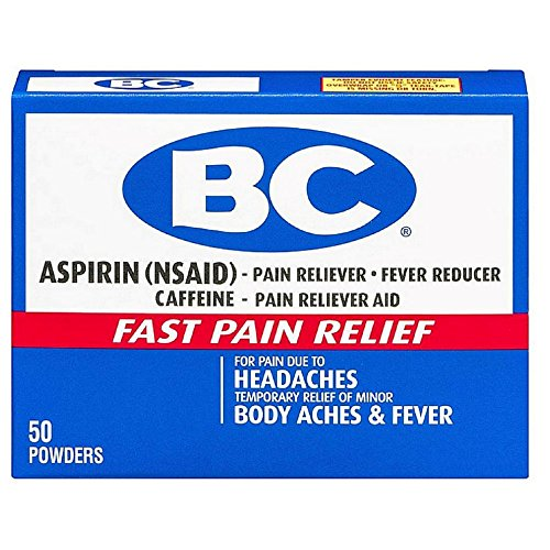 BC Aspirin Fast Pain Relief Powder, 50 Count (Pack of 2) by BC