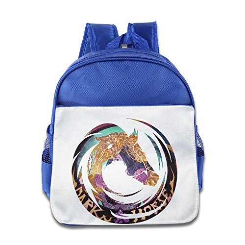 XJBD Custom Funny Dark House Kids Shoulders Bag For 1-6 Years Old RoyalBlue