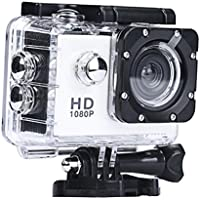 Howley Mini 1080P Full HD DV Sports Recorder Car Waterproof Camera Camcorder (White)