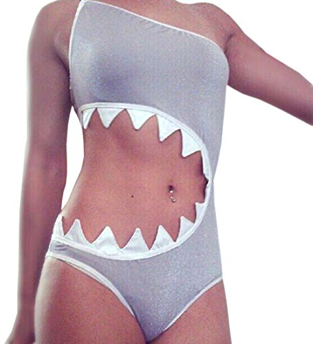 MunZ Women's One Piece Shark's mouth Swimsuit Bikini Tankini