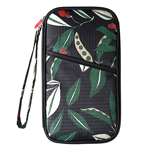 Purse with Kea Travel Hand Cell Clutch Women Wallet Phone Strap Card Sun Leaves Holder Purse Long Zipper n4OwfIx