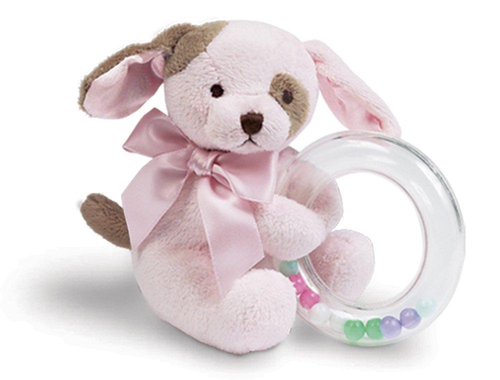 Amazon Com Bearington Baby Wiggles Plush Stuffed Animal Pink Puppy