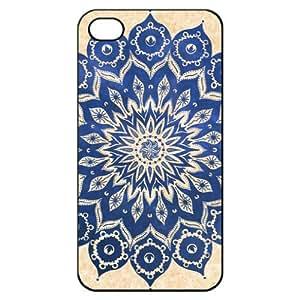 Mandala Pattern Hard Back Shell Case Cover Skin for Iphone 4 4g 4s Cases Minority Totem Floral Flower - Black/white/clear