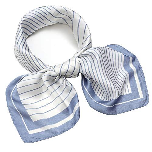 - Silk Like Scarf Square Satin Neck Scarf Fashion Piano Key Hair Scarfs for Women Blue 27'' x 27''