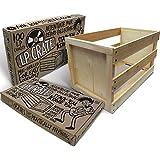 Crate Farm - Caja para vinilos (capacidad aprox. 100vinilos)