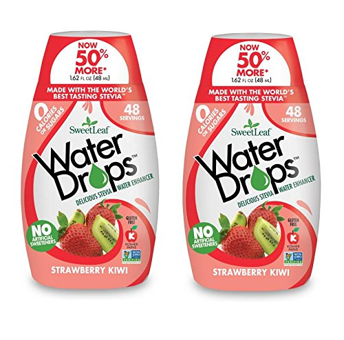 Sweetleaf Stevia Natural Water Drops Strawberry Kiwi, 1.62 Ounce (Pack of 2)