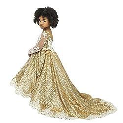 Girls Sequins Lace Flower Girl Dress