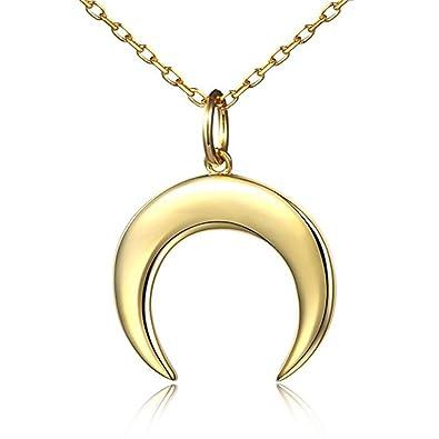 Amazon kavani crescent moon necklace half moon pendant necklace kavani crescent moon necklace half moon pendant necklace 18k gold fill dainty necklace for women aloadofball Images