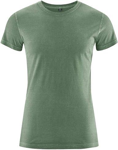 HEMPAGE Hombre cáñamo algodón Camiseta de brisko: Amazon.es: Ropa y accesorios