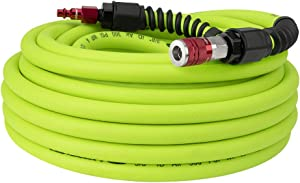Flexzilla Pro Air Hose with ColorConnex Industrial Type D Coupler and Plug