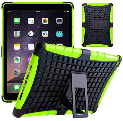 Funda iPad Mini 1 2 3, G-Shield Carcasa Extremo Protección [Con Soporte] [Anti-Arañazos] [Anti-Choque] [Muy Resistente] Híbrida a Prueba de Golpes Case Cover Para Apple iPad Mini 1 / 2 / 3 - Rojo Verde