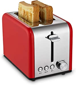 NAFE Stainless Steel Bread Maker, Electric/Toaster Cake Toast Sandwich Oven Grill 2 Slices Automatic Breakfast Baking Machine