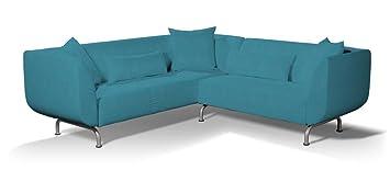 Dekoria Strömstad 3+2 Sitzer Sofabezug Sofahusse Passend Für Ikea Modell  Strömstad Türkis Strömstad