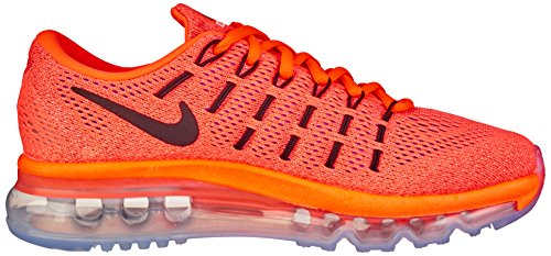 NIKE Hyper Wmns da sunset Donna Ginnastica Air Max Orange Naranja Black 2016 Glow Scarpe rnBqrz6