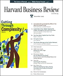 Harvard Business Review, November 2005