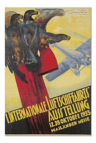 I Internationale Luftschiffahrts Ausstellung Vintage Poster (artist: Codognato) Italy c. 1935 (20x30 Premium 1000 Piece Jigsaw Puzzle, Made in USA!) (Codognato Poster)