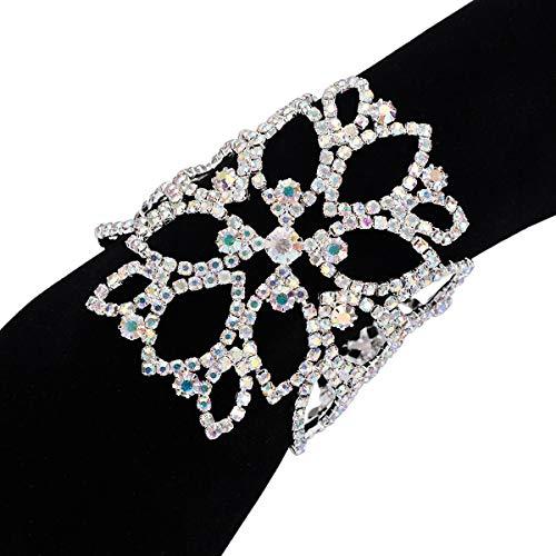 OCTCHOCO Flower Arm Chain Jewelry for Women Wedding Bridal Arm Bracelet Upper Arm Rhinestone Diamond Armband