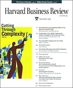 Harvard Business Review, November 2005 Periodical