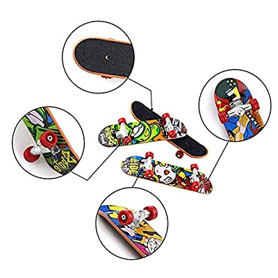 Headytidy 12 PCs Professional Finger Skateboard Toy Mini Fingerboards with Pattern On Both Sides, Creative Fingertips Movement Party Favors Novelty Toys for Adults and Children: Home & Kitchen