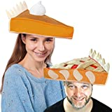 Decorative Plush Pumpkin and Apple Pie Hats for Thanksgiving Holiday Costume Dress Up Novelty Party Favor Supplies