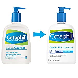 Cetaphil Gentle Skin Cleanser, For all skin types, 16-Ounce Bottles (Pack of 2)