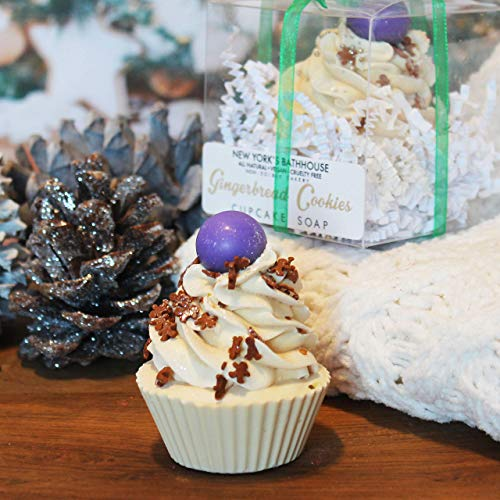 Limited Edition Seasonal Gingerbread Cupcake Soap, Christmas soap, stucking stuffers, Artisan soap