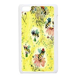 MENGYANX Phone case - Custom bee art,love bee Protective Case FOR IPod Touch 4th CASE-16