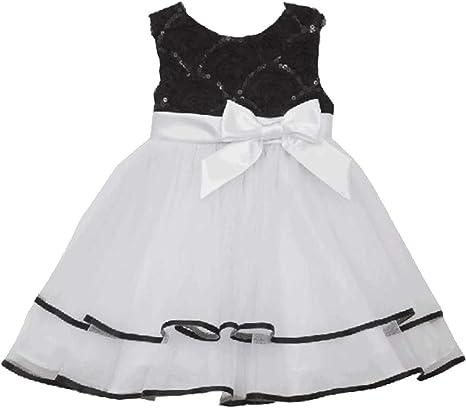 Rare Editions Black White Fuchsia Lime Dress  2T//2 5 6 6X