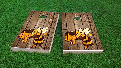 Tailgate Pro's Georgia Tech Yellow Jackets Distressed Cornhole Boards, ACA Corn Hole Set, Comes with 2 Boards and 8 Corn Filled Bags
