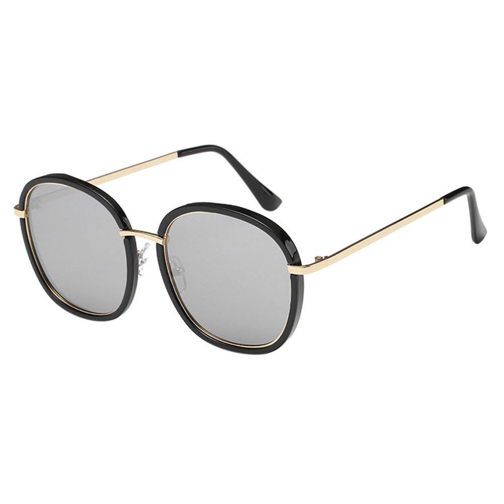 Hzjundasi Retro Runder Rahmen Sonnenbrille Mode Blume Diamant ...