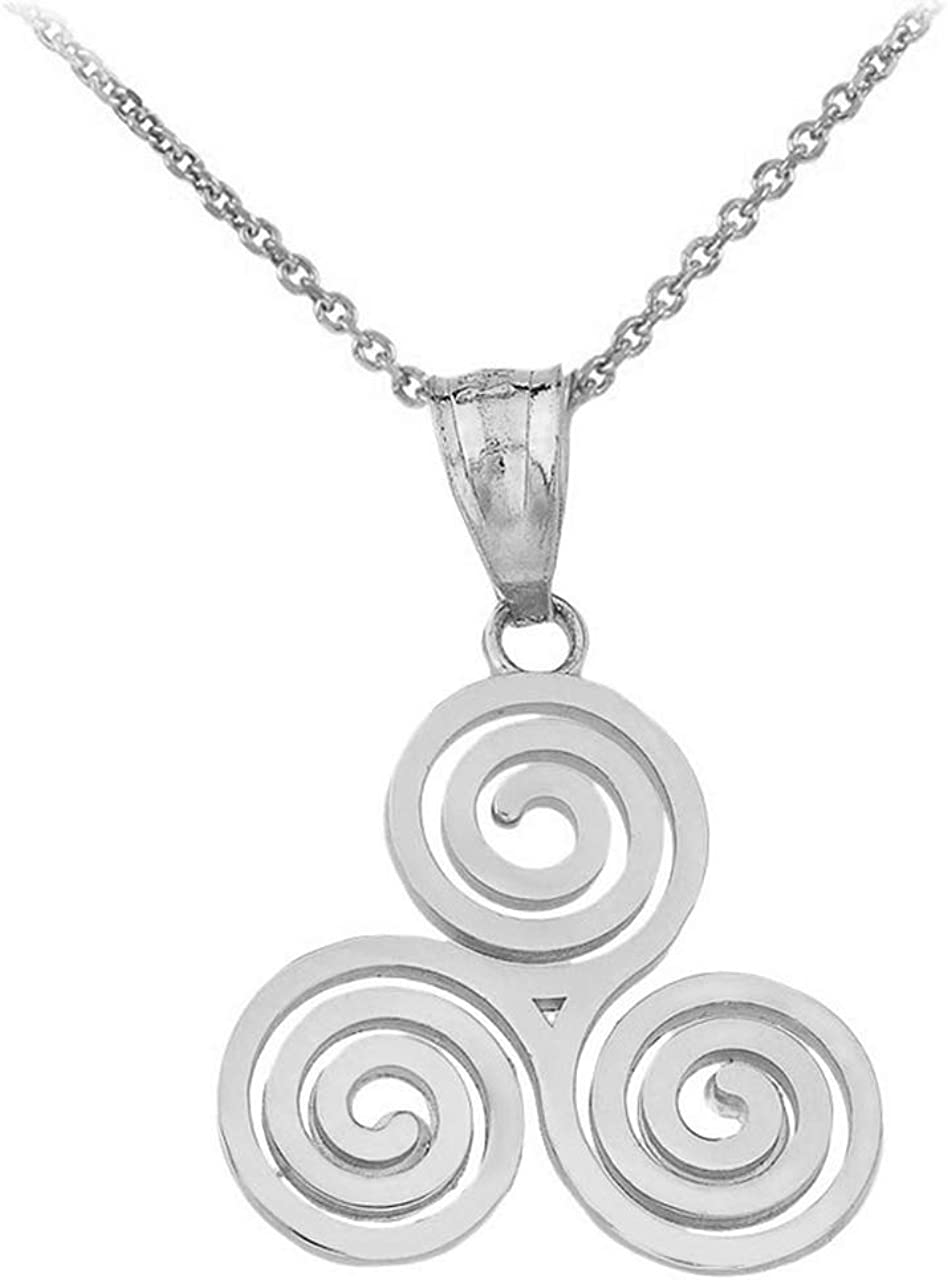 Triple Spiral necklace jewelry Sterling Silver or 14K Gold filled Handmade,Mothers Day Gift Celtic Triskele necklace
