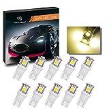 Automotive : YITAMOTOR 10 PCS T10 Wedge 5-SMD 5050 Warm White LED Light bulbs W5W 2825 158 192 168 194