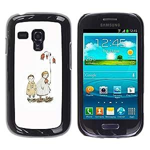 LASTONE PHONE CASE / Carcasa Funda Prima Delgada SLIM Casa Carcasa Funda Case Bandera Cover Armor Shell para Samsung Galaxy S3 MINI NOT REGULAR! I8190 I8190N / Cool White Pastel Sea Love Couple