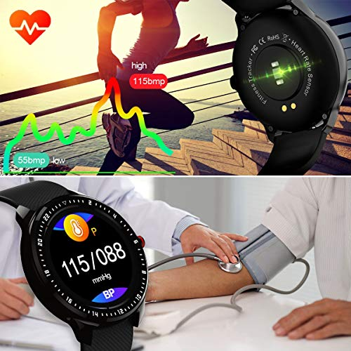 """DoSmarter Fitness Watch, 1.3"""" Touchscreen Smart Watch with Heart Rate Blood Pressure Monitor,Waterproof Fitness Tracker with Sleep Tracking, Pedometer, Calories Counter for Women Men 4"""
