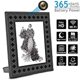 Hidden Spy Camera With Photo Frame,WiFi Nanny Camera with PIR Motion, Night Vision, Live View, 365 Days Battery Life and Message Alerts to Smartphone perfect For Home and Office