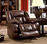 Cheap Furniture of America Rosamund Recliner Chair with Power-Assist System