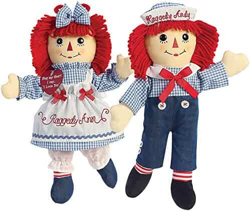 Aurora World Raggedy Andy Classic Doll 16/""