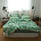 Jane yre 3 Piece Hawaiian Duvet Covers Tropical Woodpecker Bedspread Green Leaves Quilt Cover Twin Size