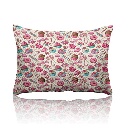 homecoco Candy Cane Long Pillowcase 18