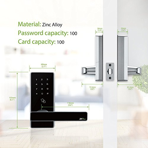 Bluetooth Locks Biometric Door ... & Bluetooth Locks Biometric Door Lock Keyless Smart Home Entry 5 pcs ...
