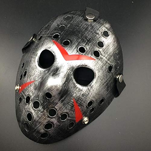 TANGGOOO Stylish Jason Voorhees Horror Hockey Mask Scary Halloween Mask Party Masks Must-Have Unique Gifts Childrens Favourites Toddler Superhero 3 Movie ()