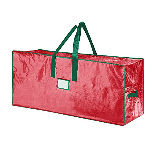Elf Stor 83-DT5510 Premium Christmas Bag Holiday Large for up to 7.5 Ft Tree, Foot, Red