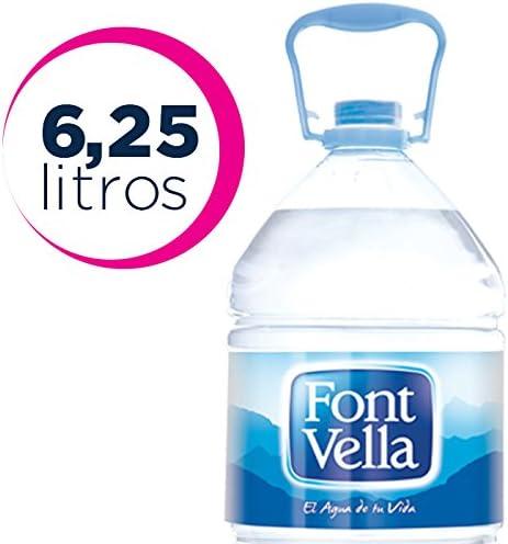 Font Vella, Agua Mineral Natural - Garrafa 6,25 l: Amazon.es: Alimentación y bebidas