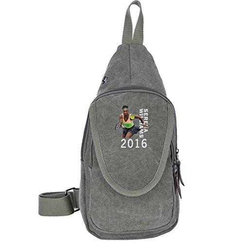 Crazy Cool Casual Canvas Unbalance Backpack Sling Bag Shoulder Bag Chest Bag For Men & Women--2016 Serena Williams Us Open Tennis