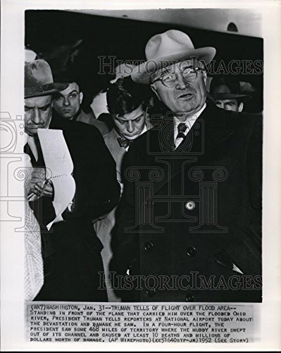 1952 Wire Photo President Truman at The National Airport - cvw07196 - - Historic Images