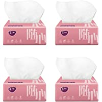 Soft 3-Ply Facial Tissues Natural Unscented Dry Hand Tissue Bulk Wedding Party Favors 240 Sheets x 4 Packs