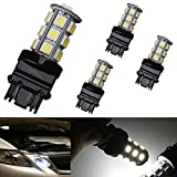 Motorus93 4-Pack 3157 3156 3057 3056 18 SMD 5050 Reverse Backup Tail Brake Stop Turn Signal White LED Light Bulbs