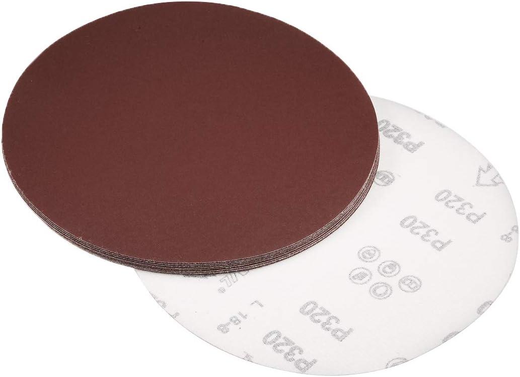 100 K/örnungen Aluminiumoxid beflocktes Schleifpapier f/ür Exzenterschleifer Sourcing Map Klett-Schleifscheiben